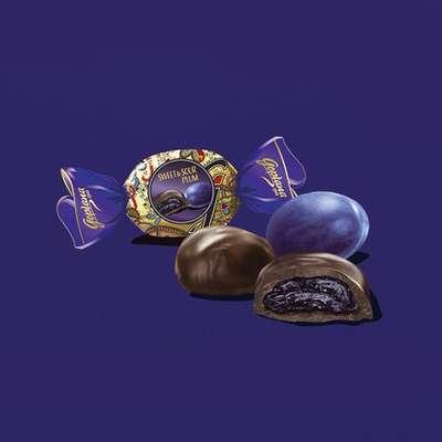 Коробка шоколадных конфет слива в шоколаде Sweet and Sour Plum Goplana Goplana 400 гр, фото 2