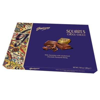 Коробка конфет с шоколадной начинкой Squares Choco-Choco Goplana 200 гр, фото 1