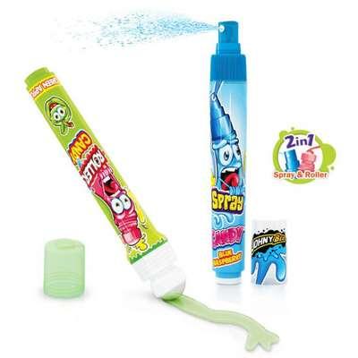 Жидкая конфета-спрей и леденец-ролик Roller Coaster Johny Bee 40 мл, фото 2