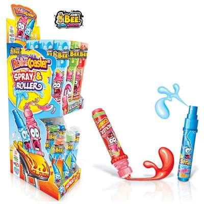 Жидкая конфета-спрей и леденец-ролик Roller Coaster Johny Bee 40 мл, фото 1