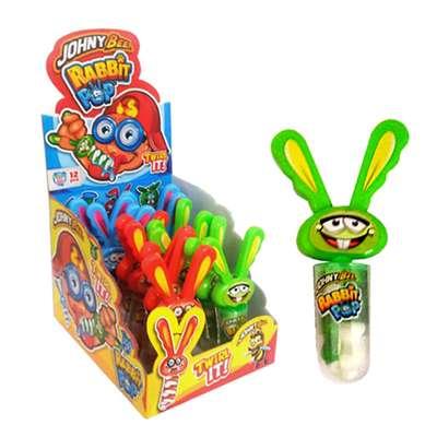 Кролик крутящийся леденец Клубника Rabbit Pop Johny Bee 23 гр, фото 3