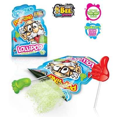 Леденец на палочке и кислая пудра Dr.Lab Popping Lollipop Johny Bee 13 гр, фото 2