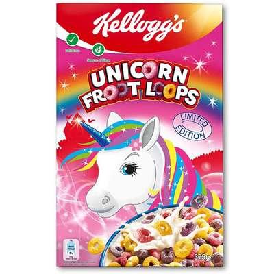Сухой завтрак колечки Unicorn Froot Loops Kelloggs 375 гр, фото 1