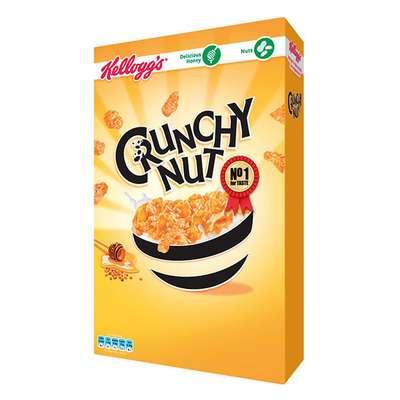 Сухой завтрак хлопья с медом и орехами Crunchy Nut Kelloggs 375 гр, фото 2