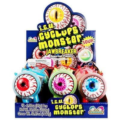 Жевательные конфеты с кислым порошком Cyclops Monster Kidsmania 95 гр, фото 3