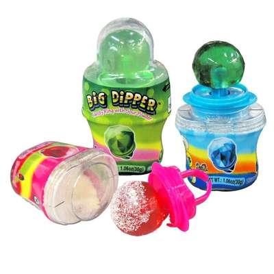 Конфетное кольцо леденец с кислым порошком Малина Big Dipper Kidsmania 30 гр, фото 2