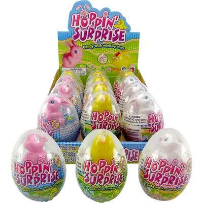 Сюрприз в яйце Игрушка и конфеты Hoppin Surprise Kidsmania 15 гр, фото 2