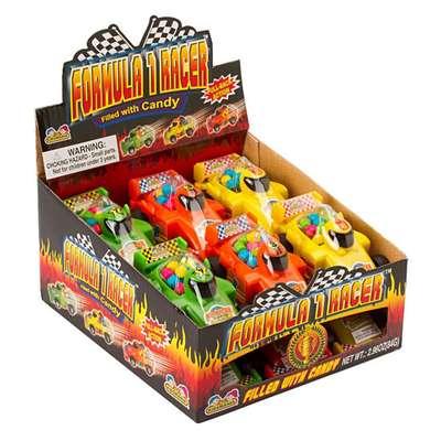 Машинка Формула 1 с конфетами Formula 1 Racer Kidsmania 7 гр, фото 2