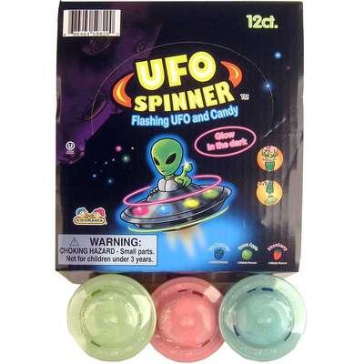 Игрушка спиннер НЛО с леденецом UFO Spinner Kidsmania 11 гр, фото 2