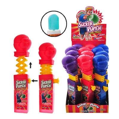 Боксерские Перчатки Леденец с фруктовым вкусом Sucker Punch Kidsmania 12 гр, фото 1