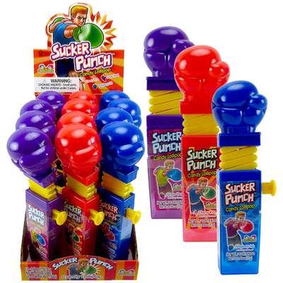 Боксерские Перчатки Леденец с фруктовым вкусом Sucker Punch Kidsmania 12 гр, фото 2