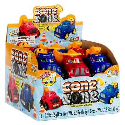 Строительные машины и конфеты Cone Zone Kidsmania 6 гр, фото 3