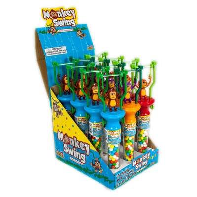 Игрушка Обезьянка акробат и конфеты Monkey Swing Kidsmania 13 гр, фото 2