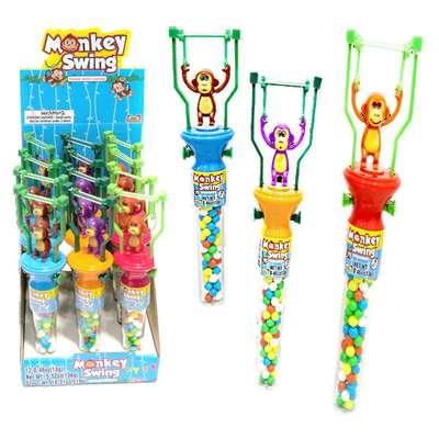 Игрушка Обезьянка акробат и конфеты Monkey Swing Kidsmania 13 гр, фото 1