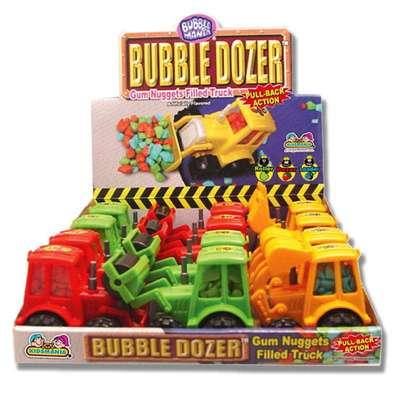 Игрушка Трактор и жевательная резинка Bubble Dozer Kidsmania 7 гр, фото 3