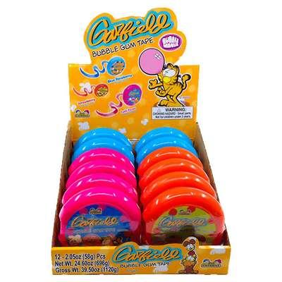 Жевательная резинка Garfield Bubble Gum Tape Roll Kidsmania 58 гр, фото 3