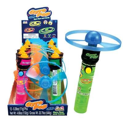 Игрушка летающий диск и конфеты Gyro Pop Kidsmania 11 гр, фото 1