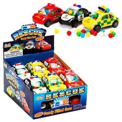Машинка спецслужб с конфетами Rescue Candy Filled Cars Kidsmania 12 гр, фото 3