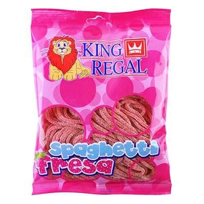 Жевательный мармелад Спагетти кисло-клубничные King Regal 250 гр, фото 1