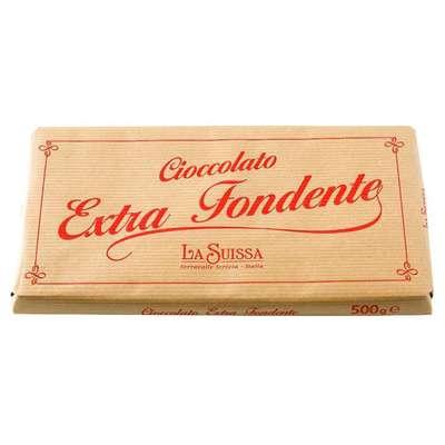 Горький шоколад 52% большая плитка La Suissa 500 гр, фото 1
