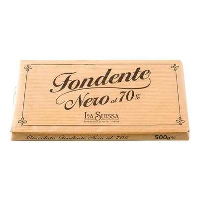 Горький шоколад 70% большая плитка La Suissa 500 гр, фото 1