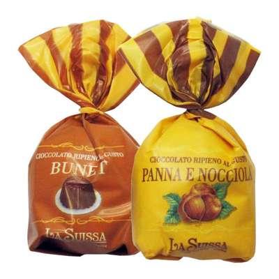 Конфеты с начинками Шоколадный десерт Орехово-сливочный La Suissa 1 кг, фото 2