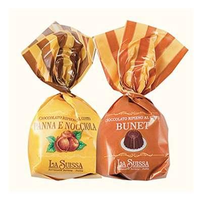 Конфеты с начинками Шоколадный десерт Орехово-сливочный La Suissa 1 кг, фото 1