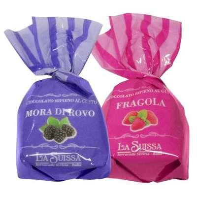 Шоколадные конфеты Шоколадный десерт Клубника Ежевика La Suissa 1 кг, фото 1