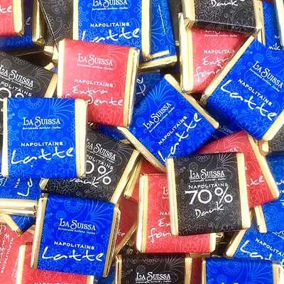 Шоколадные конфеты Неаполитаны ассорти 4 вкуса La Suissa 100 гр, фото 2