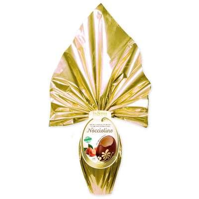 Большое яйцо молочного шоколада с ореховой оболочкой La Suissa 350 гр, фото 1