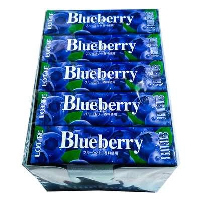 Жевательная резинка со вкусом черники Blueberry Lotte 31 гр, фото 2