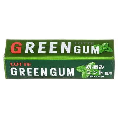 Жевательная резинка мята и зеленый чай Green Gum Lotte 30 гр, фото 2