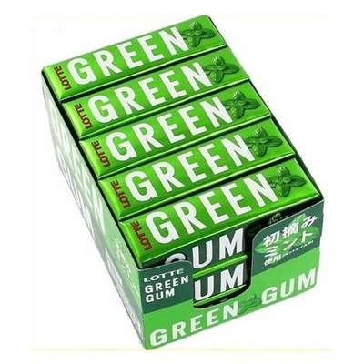 Жевательная резинка мята и зеленый чай Green Gum Lotte 30 гр, фото 3