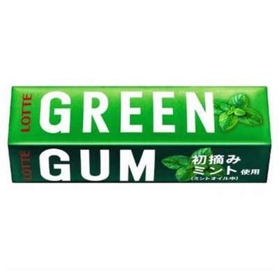Жевательная резинка мята и зеленый чай Green Gum Lotte 30 гр, фото 1