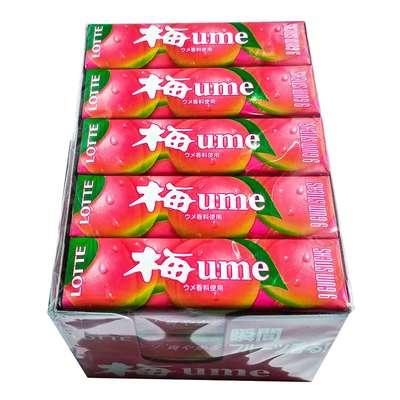 Жевательная резинка со вкусом японской сливы UME Lotte 31 гр, фото 3