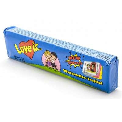 Жевательная конфета Арбуз Тропик LOVE IS 25 гр, фото 2