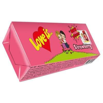 Жевательная конфета Клубника LOVE IS 25 гр, фото 2