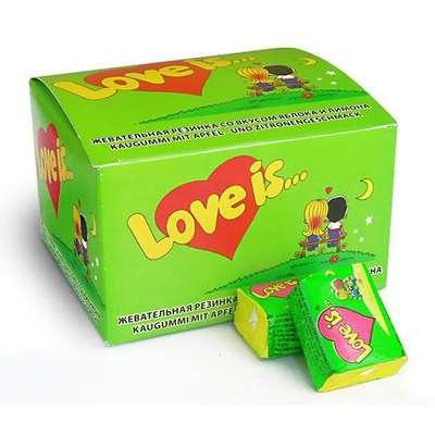 Жевательная резинка Яблоко Лимон LOVE IS 4,2 гр x 100 шт, фото 2