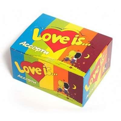 Жевательная резинка Микс Вкусов LOVE IS 4,2 гр x 100 шт, фото 2