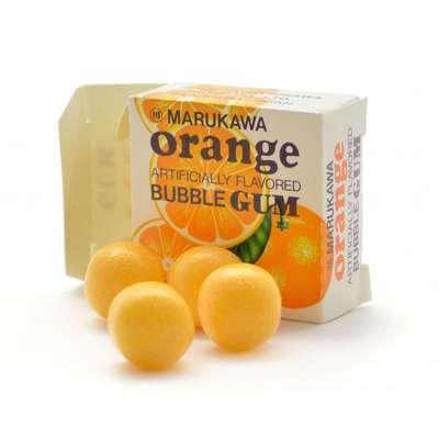 Жевательная резинка шары со вкусом апельсина Orange Marukawa 5,4 гр, фото 2