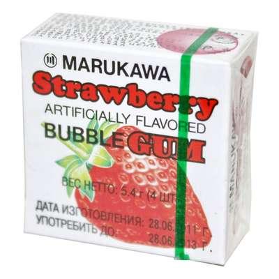 Жевательная резинка в виде шаров со вкусом клубники Strawberry Marukawa 5,4 гр, фото 1
