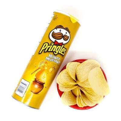 Картофельные чипсы с медовой горчицей Honey Mustard Pringles 158 гр, фото 2
