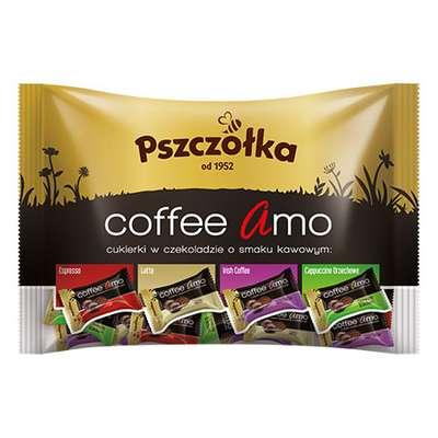 Карамель в шоколаде Кофейное ассорти Coffee Amo Pszczolka 1 кг, фото 1