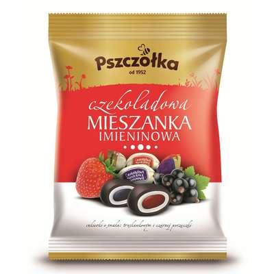 Карамель в шоколаде Мешанка Именины Pszczolka 100 гр, фото 1