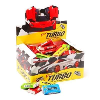 Жевательная резинка Ассорти вкусов TURBO 4,5 гр x 100 шт, фото 1