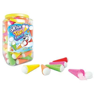 Шипучая конфета с кислым порошком Top Cones X-treme 12,5 гр x 150 шт, фото 1