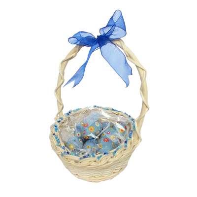 Подарочная пасхальная корзина с большими шоколадными яйцами - 2 La Suissa, фото 1