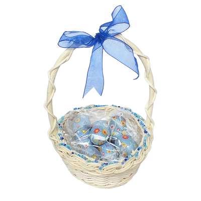 Подарочная пасхальная корзина с большими шоколадными яйцами - 2 La Suissa, фото 2