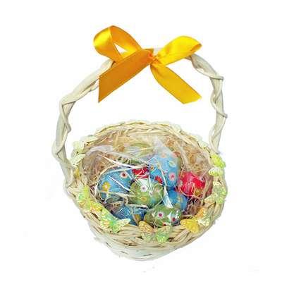 Подарочная пасхальная корзина с большими шоколадными яйцами - 3 La Suissa, фото 2