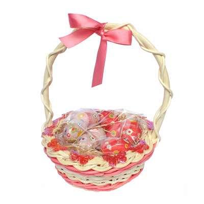 Подарочная пасхальная корзина с большими шоколадными яйцами - 4 La Suissa, фото 1